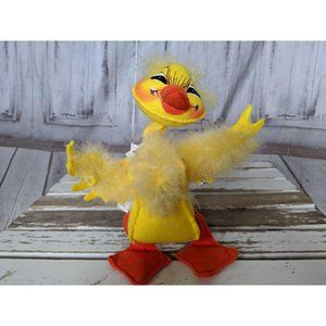 Vtg Annalee Doll Easter Yellow Feathery 8″ FLUFFY